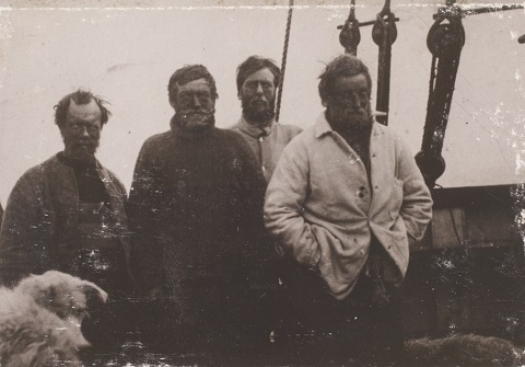 Wild, Shackleton, Marshall and Adams of the British Antarctic Expedition